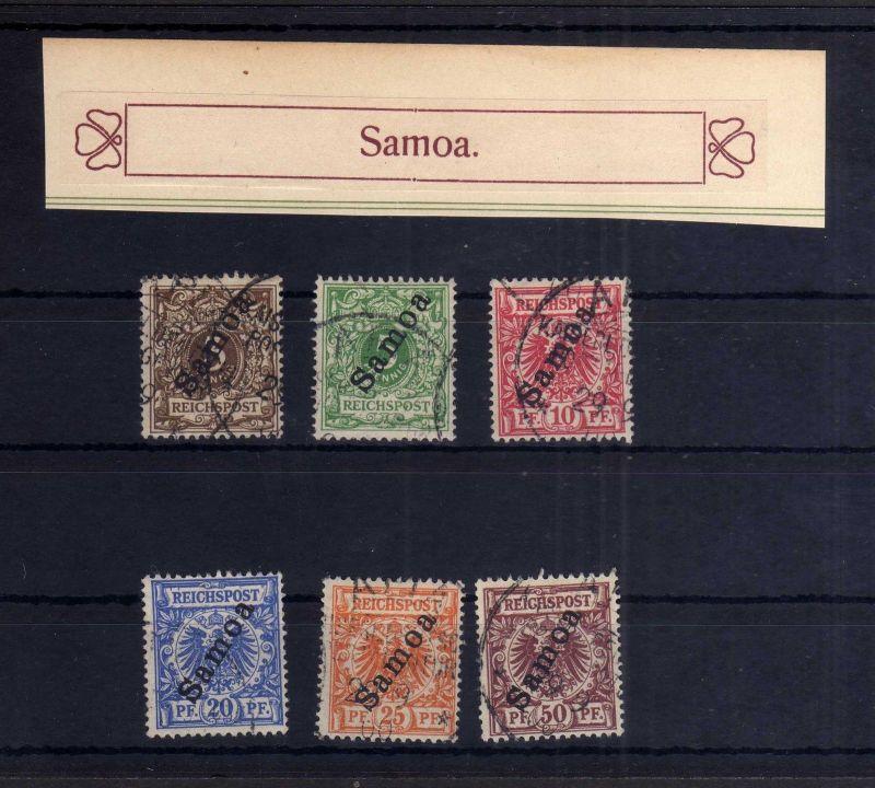 Samoa 1 - 6 Krone Adler Satz gestempelt komplett