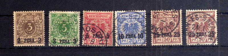 Deutsch-Ostafrika DOA 1 - 5 */o