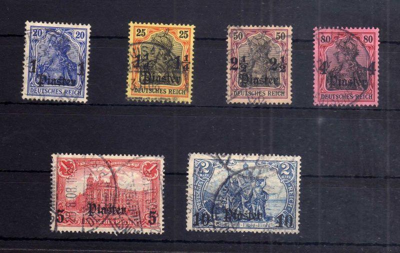 Deutsche Post in der Türkei  39 42 43 44 45 gestempelt