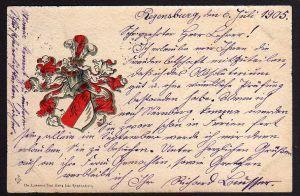 Ansichtskarte Regensburg Studentika 1905 Absolvia Altes Gymnasium