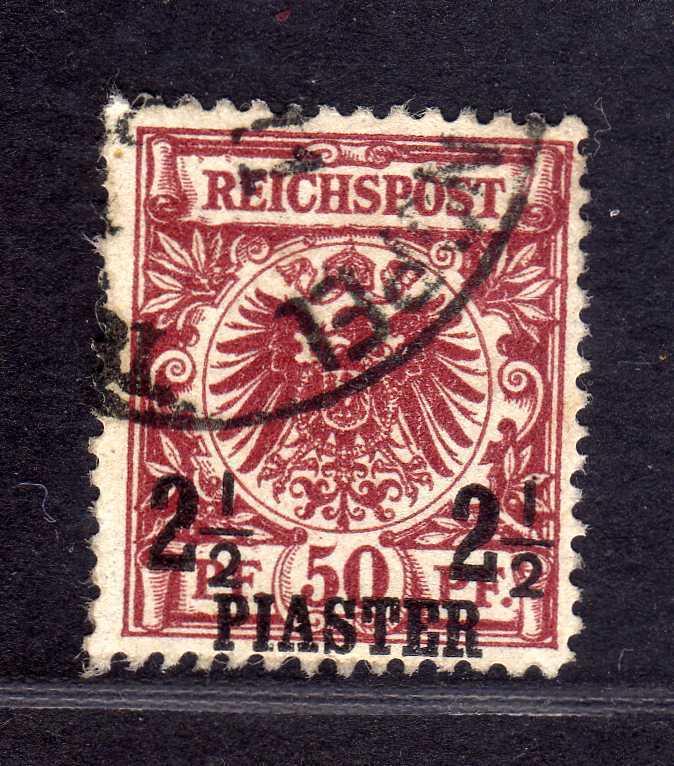 B1372 Deutsche Post in der Türkei 10b gestempelt Befund fehlerfreie Erhaltung Jä