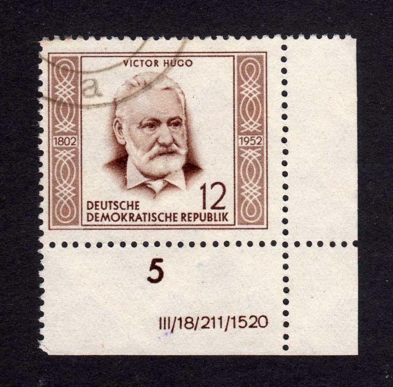DDR 311 Victor Hugo echt gestempelt DV ungefalten, nicht angetrennt