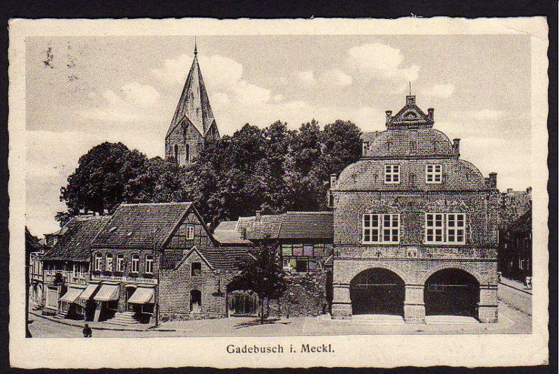 Ansichtskarte Gadebusch Mecklenburg Kolonialwaren Delikatess