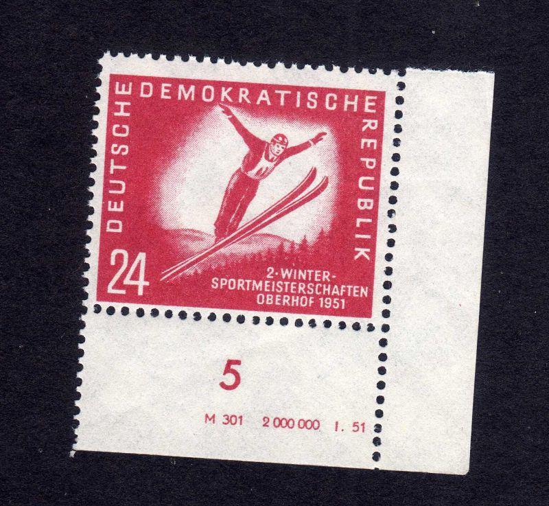 DDR 281 Oberhof ** DV ungefalten, nicht angetrennt Variante Wolf a unten dur