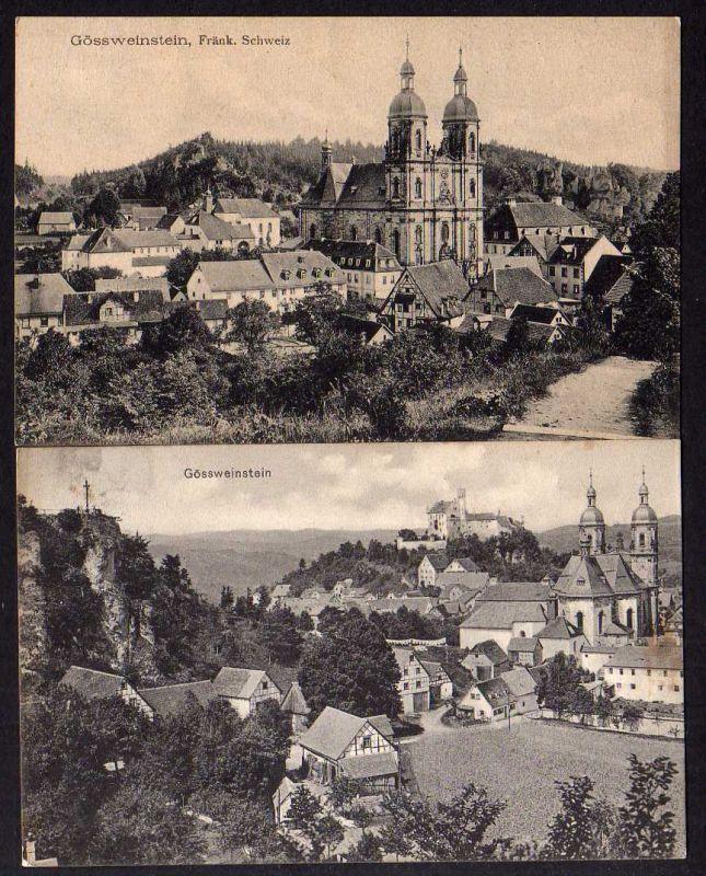 2 Ansichtskarte Gössweinstein Gößweinstein Fränkische Schweiz 1910 1911