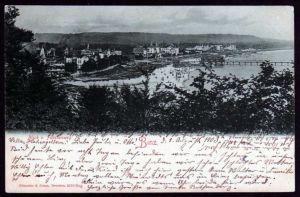 Ansichtskarte Binz 1903 Panorama vom  Fürstenweg aus