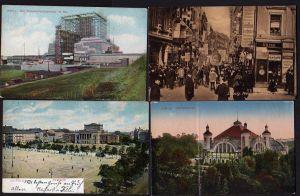 4 Ansichtskarte Leipzig Völkerschlachtdenkmal im Bau Peters