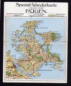 Ansichtskarte Rügen Spezial Wanderkarte Doppelkarte