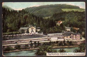 Ansichtskarte Bahnhof Station Rentzschmühle 1910