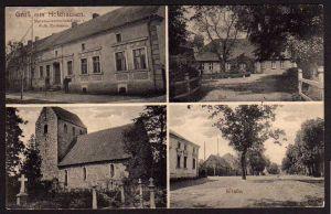 Ansichtskarte Holzhausen Materialwarenhandlung Gut Kirche
