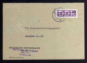 B1818 DDR ZKD 7 Brief Berlin Deutsche Notenbank ZKD 128 geprüft BPP nach Leipzig