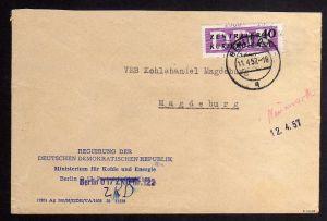 B1598 DDR ZKD 12 Kontrollzahl 1600 Brief Berlin geprüft BPP ZKD Nr. 122  Regieru
