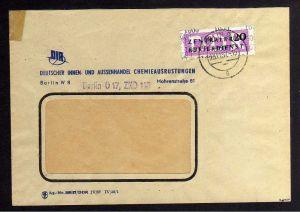 B1593 DDR ZKD 15 Kontrollzahl 1600 Brief Berlin geprüft BPP ZKD Nr. 110  DIA Deu