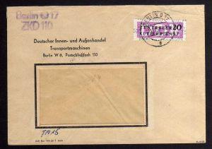 B1592 DDR ZKD 15 Kontrollzahl 1600 Brief Berlin geprüft BPP ZKD Nr. 110  DIA De