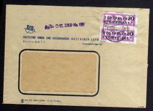 B1588 DDR ZKD 2x 15 Kontrollzahl 1600 Brief Berlin geprüft BPP ZKD Nr. 110  DIA