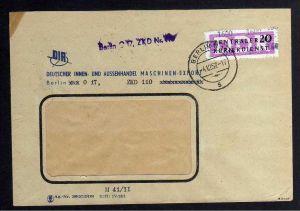B1587 DDR ZKD 15 Kontrollzahl 1600 Brief Berlin geprüft BPP ZKD Nr. 110  M 41/II