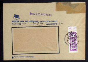 B1586 DDR ZKD 15 Kontrollzahl 1600 Brief Berlin geprüft BPP ZKD Nr. 110 DIA Deut