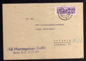 B1585 DDR ZKD 15 Kontrollzahl 1600 Brief Berlin geprüft BPP ZKD Nr. 150 VEB Mont