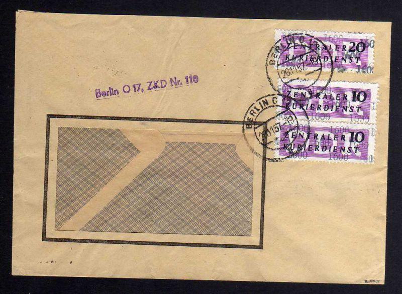 B1583 DDR ZKD 11 Kontrollzahl 1600 Brief Berlin geprüft BPP ZKD Nr. 117 Regierun
