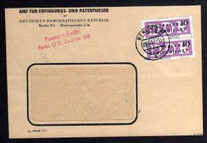 B1577 DDR ZKD 2x 14 Kontrollzahl 1600 Brief Berlin geprüft BPP ZKD Nr. 138 Amt f