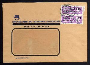 B1574 DDR ZKD 2x 14 Kontrollzahl 1600 Brief Berlin geprüft BPP ZKD Nr. 109 Deuts