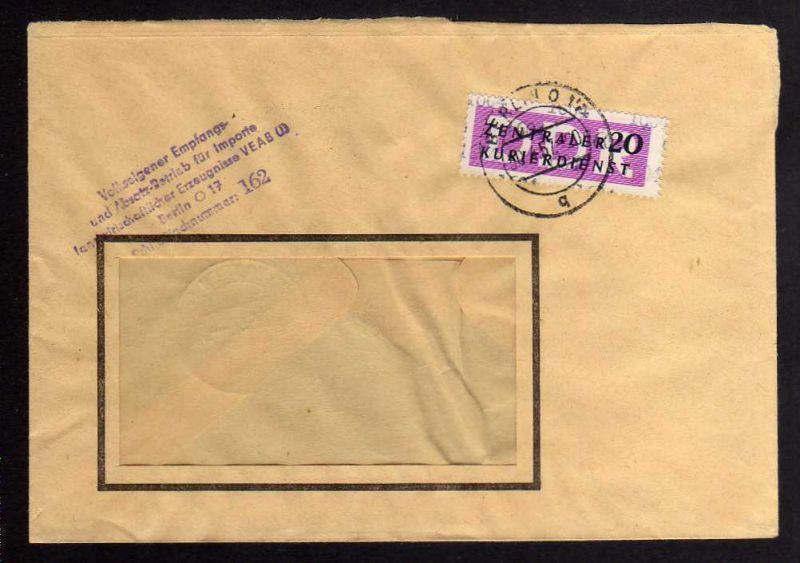 B1706 DDR ZKD 15 Kontrollnummer 1604 Berlin Brief ZKD 162 Volkseigener Empfangs