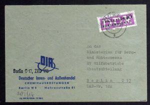 B1572 DDR ZKD 14 Kontrollzahl 1600 Ortsbrief Berlin geprüft BPP Deutscher Innen
