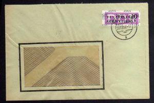 B1699 DDR ZKD 15 Kontrollnummer 1601 Berlin Brief ZKD 145 VEB Metallurgie Projek