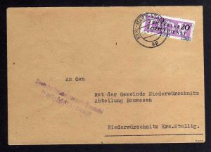 B1557 DDR ZKD 15 Kontrollzahl 1500 Brief Karl-Marx-Stadt geprüft BPP DHZ Baustof