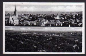 Ansichtskarte Milovice nad Labem Milowitz Feldpost 1940