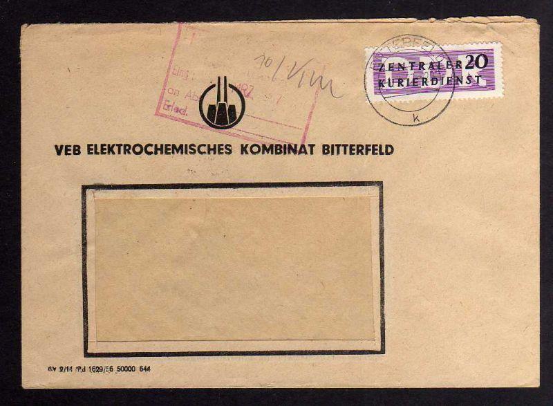 B1662 DDR ZKD 7 Brief VEB Elektrochemisches Kombinat Bitterfeld  nach Schönebeck