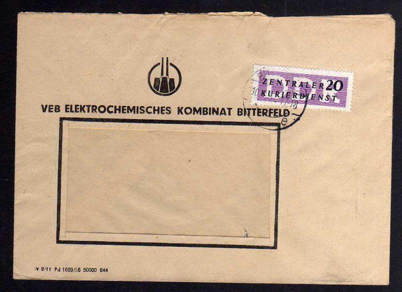 B1661 DDR ZKD 7 Brief VEB Elektrochemisches Kombinat Bitterfeld  nach Schönebeck
