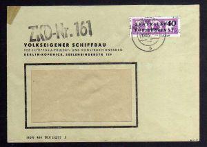 B1630 DDR Aufdruck Kontrollzahlen 1605 Berlin ZKD 12 Brief VEB Schiffbau Berlin