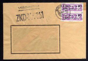 B1625 DDR Aufdruck Kontrollzahlen 1605 Berlin ZKD 2x 14 Brief VEB Schiffbau Proj