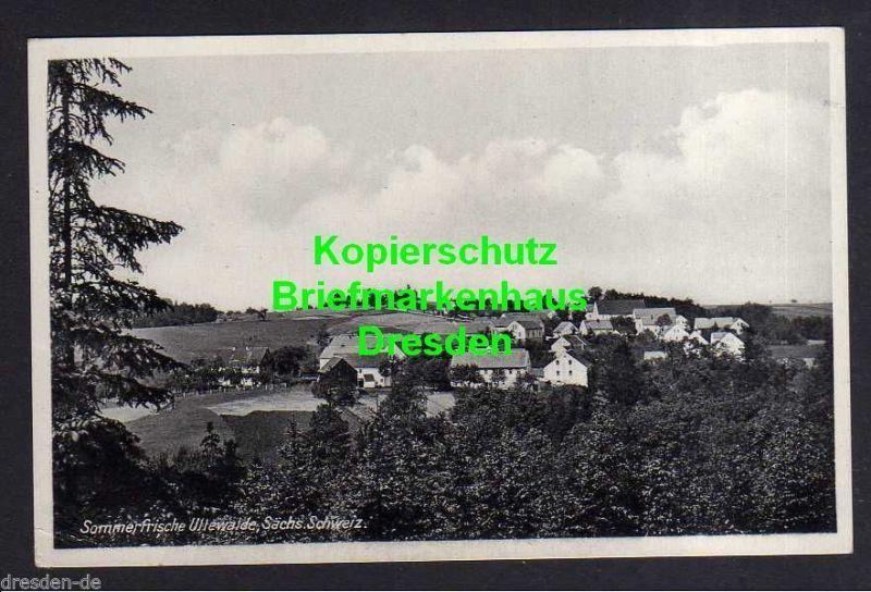 Ansichtskarte Uttewalde Sächs. Schweiz um 1930 Uttewalder Grund oberhalb des Felsen