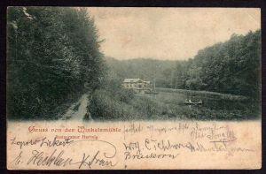 Ansichtskarte Winkelsmühle 1899 Restaurant Gasthaus