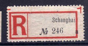 Kolonien Einschreiben R Zettel Schanghai