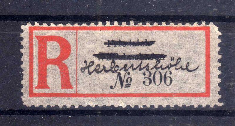 Kolonien Einschreiben R Zettel Herbertshöhe handschriftlich über Friedric