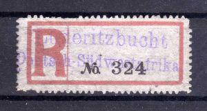 Kolonien Einschreiben R Zettel blanko Lüderitzbucht Deutsch-Südwestafrika