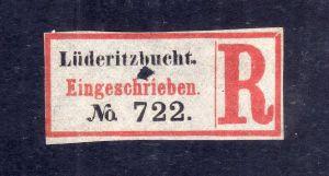 Kolonien Einschreiben R Zettel Lüderitzbucht