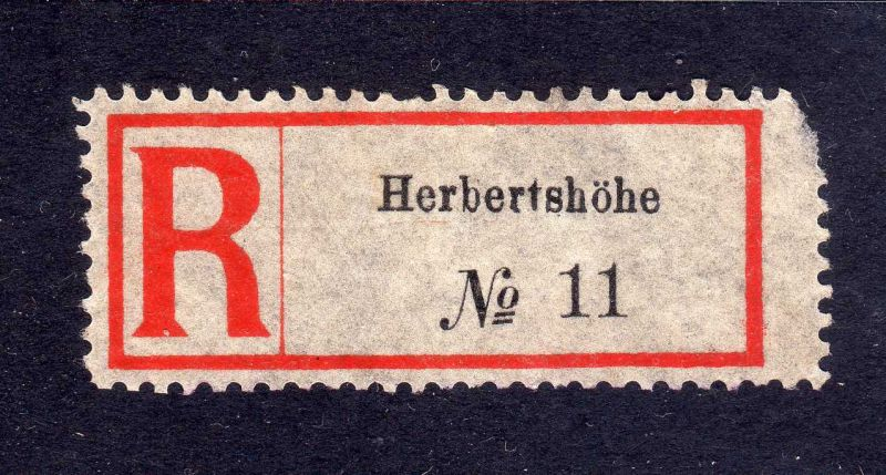 Kolonien Einschreiben R Zettel Herbertshöhe