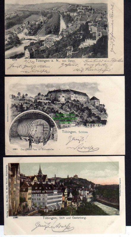 3 Ansichtskarte Tübingen a. N. 1903 Schloss Das grosse Fass Oesterberg