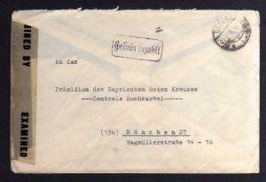 B902 SBZ Brief Gebühr bezahlt 1946 Dessau / Almerswind Post Schalkau an Suchdien