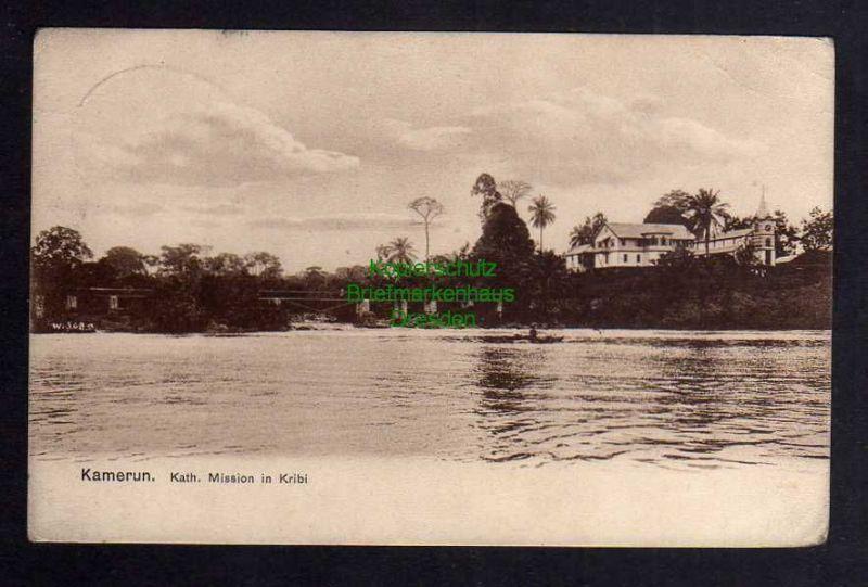 Ansichtskarte Kamerun 1908 Deutsches Schutzgebiet Seepost Linie Hamburg Westafrika K