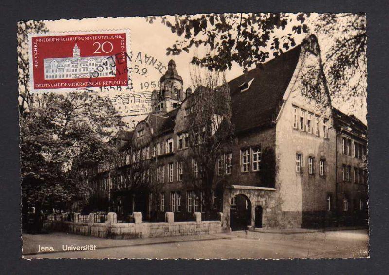 Maximumkarten DDR 648 1958 Schiller Universität Jena seltene private Maxi