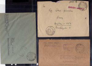 B792 3x SBZ Brief Gebühr bezahlt 1945 Tharandt BZ Dresden 1947 1948