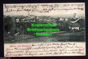 Ansichtskarte Teisbach 1900  Panorama Kirche