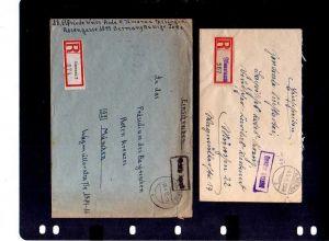 B982 9x SBZ Brief Gebühr bezahlt Taxe percue 1946 Ilmenau an Zentrale Suchkartei