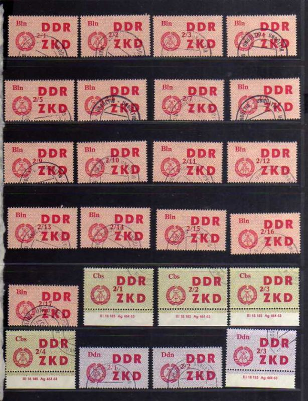 S128 DDR Dienst Ausgabe C ZKD C 31 - 45 ungültig gestempelt komplett 84 Werte
