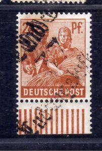 h2474 Handstempel Bezirk 37 46c Ludwigslust Land 24 ** Unterrand gepr. BPP 24 Pf
